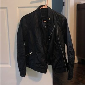 Real leather motor jacket